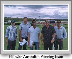 Hal with Australian planning team